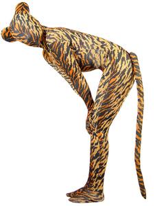 نمر سبانديكس Zentai البدلة هالوين الحيوانات ليكرا دنة للجنسين كامل Bodysuit هالوين