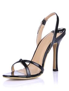 Sandali alla moda neri eleganti con tacchi da 10cm