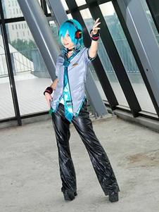 Disfraz Carnaval Vocaloid Hatsune Miku Halloween Cosplay traje niño versión Halloween Carnaval