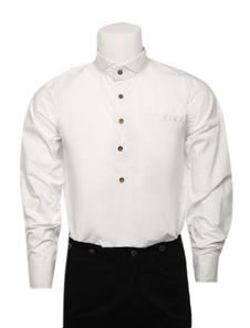 Traje do Vintage camisa branca vitoriana traje Retro Top do homens Halloween