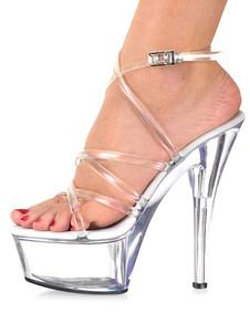 Шикарный прозрачной Strappy пластиковые Sexy Сандалии для женщины