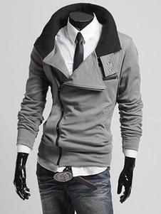 Мужская куртка хлопок с длинным рукавом Slim Fit Zip Front Coat