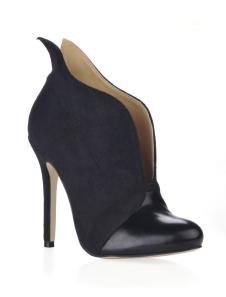 Botines negros mujer Botines de satén elástico de color negro de tacón alto 2020