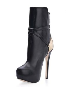 أزياء سوداء مشبك بو المرأة الجوارب عالية الكعب