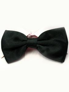 Seta elastico di chic uomini neri come Satin Bow Tie