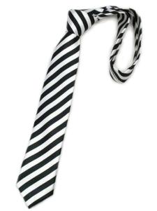 Elegante Black Stripe Mens laços de seda fios tingidos