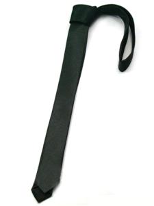 Formal Black Pure Color tinto in filo di seta Mens Ties