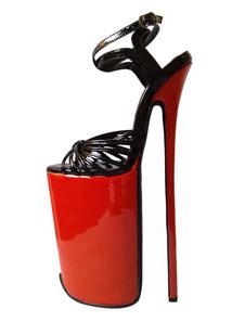 Коровьей лодыжки ремень женщин сексуальная высокие каблуки