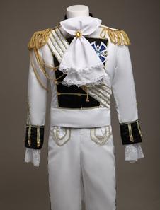 Королевские ретро костюм мужской белый Европейский ретро принц очаровательный костюм костюм Хэллоуин