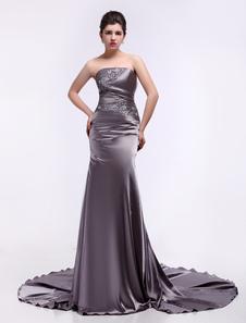 Вечернее платье и атласного переплетения