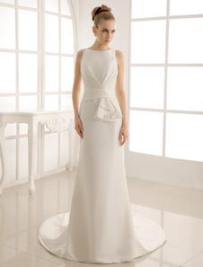Свадебное платье с вырезом Бато Milanoo