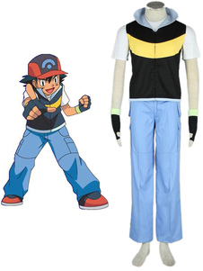Pokemon Ash Ketchum косплей костюм Хэллоуин