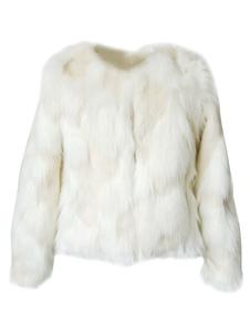 Casaco De Pele Falso 2020 Mulheres Jaqueta Casaco De Pele Falso Longoa Manga Branca Para Mulheres