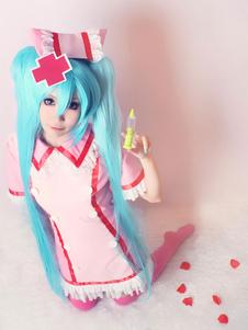 Vocaloid Miku Hatsune Cosplay traje enfermera versión Halloween