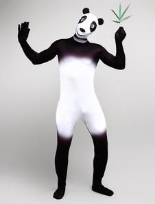 Символ Панда лайкра спандекс многоцветный костюм Зентаи Хэллоуин