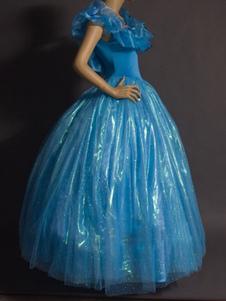 تأثيري الأزرق الأميرة زي هالوين فستان سندريلا كيد 20202020