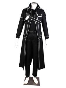 Вдохновлен меч искусства онлайн Kirito косплей костюм SAO Kirigaya Кадзуто Хэллоуин