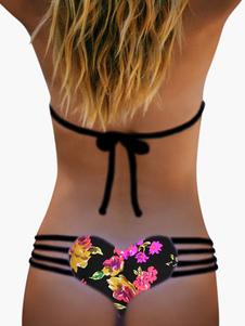 Bikini camuffamento Vita bassa Costumi da Bagno Costumi vita alta con stampe Abbigliamento  Donna sexy forato lycra spandex