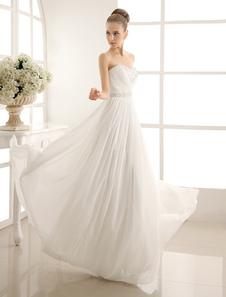 Без бретелек многоуровневой свадебное платье в пол Длина