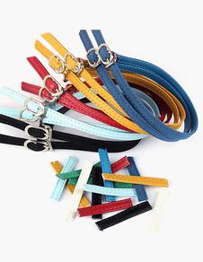 Fivela padrão destacável sapato cintas para as mulheres