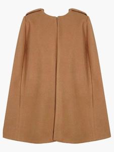 Crewneck casaco capa de lã mulher