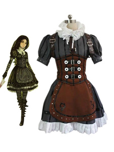 Alice: Madness Returns Alice Steampunk Dress ecopelle  Carnevale