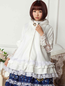 Gothic Lolita abrigo capucha cabo
