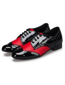 Мужская танцевальная обувь зашнуровать щенка танцевальная обувь