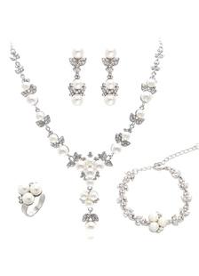 Свадебные ювелирные наборы жемчуг Rhinestone Люкс ювелирные изделия для женщин