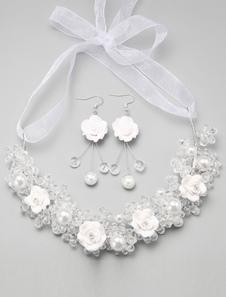 Casamento nupcial jóias cristal Headbands e brinco Headpieces pêra casamento moda Tiara (brinco: 4 X 2.2 Cm X 1.5 Cm)
