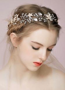 Горный хрусталь свадьбы тиару для новобрачных Повязки головные уборы (27 см Х 4 см)