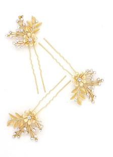 Cabelo de ouro pino casamento nupcial do Rhinestone Headpieces Tiara (9 X 4,5 Cm)