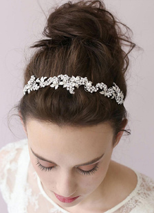 Свадебная прическа Band Свадебные головные украшения цепи цветок оголовье тиара (29 см Х 2 см)