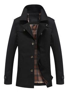 Мужское пальто с капюшоном с длинным рукавом