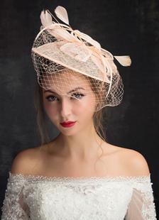 Тюль свадьбы шляпу украшения птичья клетка вуаль вуалью Hat (15 см Х 50 см)