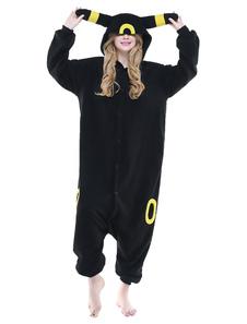 Kigurumi Pajama Black Umbreon Onesie Взрослые Unisex Flannel Animal Onesie Sleepwear Костюм Хэллоуин