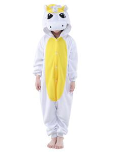 Единорог Kigurumi Костюм детский фланелевой пижамы животных Onesie Хэллоуин