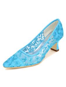 Белая свадебная обувь высокий каблук кружева бисером вышитые Свадебная обувь