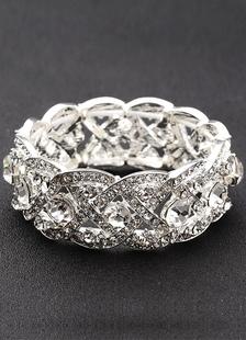Bracciale di perle strass nuziale per il matrimonio