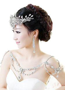 Плечо для новобрачных ожерелье цепи сплава стразами свадебных ювелирных изделий