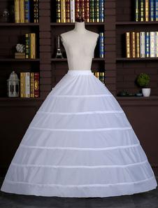 Branco a anágua bola vestido Slip 1 camada saia aro nupcial do casamento