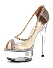 Zapatos de plataforma color liso sexy