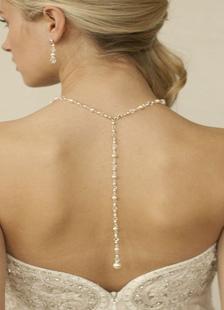 Свадебный фон ожерелье белый жемчуг старинный ожерелье