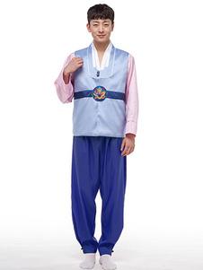 الرجال الكورية زي الهانبوك الهالووين حلي الزي الكورية التقليدية أقلية الملابس أعلى مجموعة السراويل