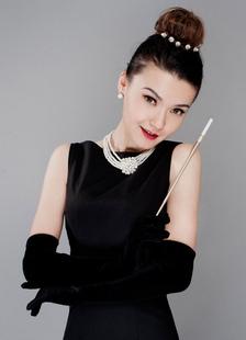 Черные Свадебные перчатки элегантные атласные Одри Хепберн кончики пальцев длинные вечерние перчатки