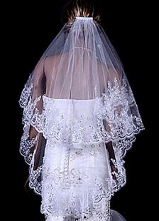 اثنين من الطبقة الحجاب الزفاف تول الرباط تريم زين الزفاف الحجاب مع مشط 2020