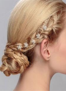 Pérola joias de casamento cabelo pino flor transparente forma de casamento (parte 5 por conjunto)