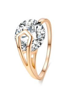 Anel feminino de ouro diamante redondo anéis