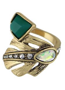 Moda anéis para cruzeiro dourada anel