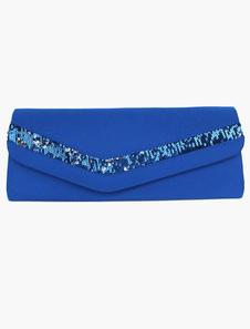 Lantejoula seda clássica Envelop embreagem bolsa vem em 5 cores cadeia destacável